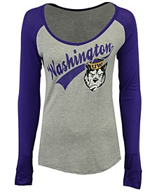 Women's Washington Huskies Raglan Long Sleeve T-Shirt
