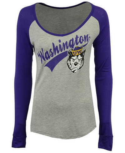 Retro Brand Women's Washington Huskies Raglan Long Sleeve T-Shirt