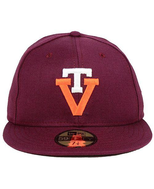huge discount 73b6f 639da ... new arrivals new era virginia tech hokies vault 59fifty fitted cap  sports fan shop by lids