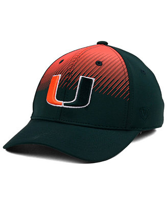 pretty nice 8a7ee 91378 ... purchase top of the world miami hurricanes fallin stretch cap sports  fan shop by lids men