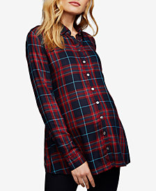 Isabella Oliver Maternity Plaid Button-Front Shirt