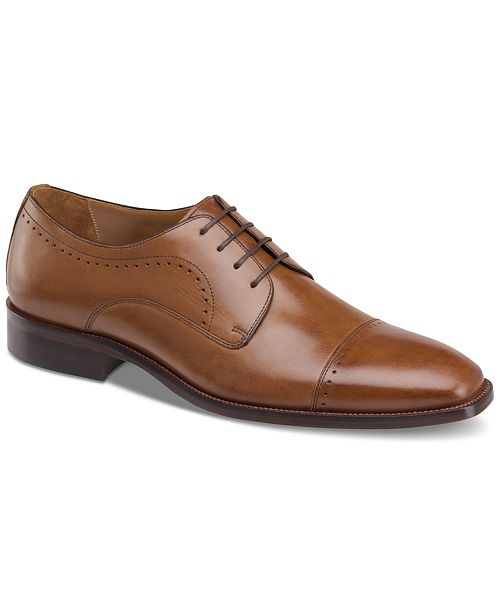 Johnston & Murphy Men's Sanborn Cap-Toe Lace-Up Oxfords Men's Shoes