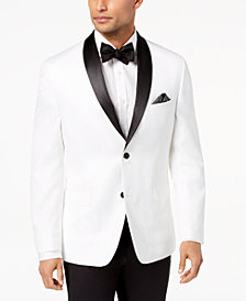 Alfani Men's Slim-Fit White Floral Dinner Jacket, Created for Macy's