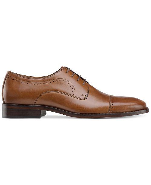 Johnston & Murphy Men's Sanborn Plain-Toe Lace-Up Oxfords Men's Shoes Bobpd3l