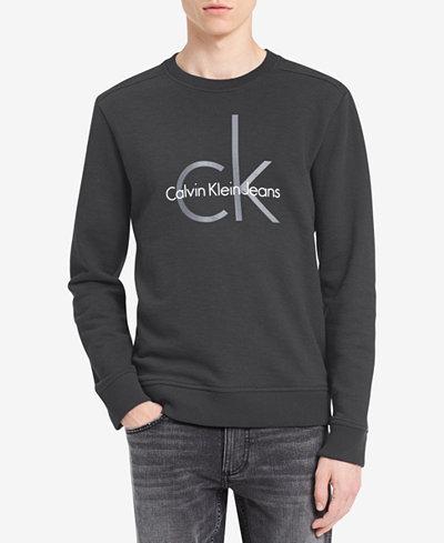 Calvin Klein Jeans Men's Big and Tall Logo Sweatshirt
