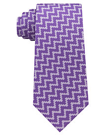 Sean John Men's Angular Herringbone Silk Tie