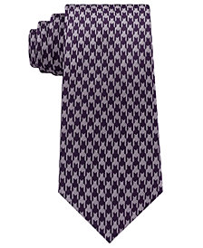 Sean John Men's Retro Houndstooth Silk Tie
