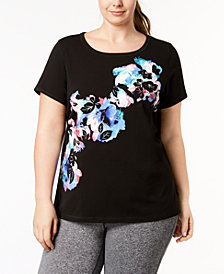 Ideology Plus Size Graphic T-Shirt, Created for Macy's
