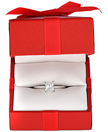Diamond Princess Solitaire Engagement Ring (1 ct. t.w.) in 14k White Gold, Rose Gold or Yellow Gold.