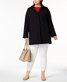 Vince Camuto Plus Size A-Line Raincoat
