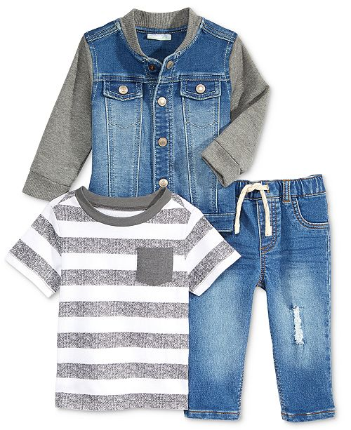 92d40d13e First Impressions T-Shirt, Jacket & Denim Jeans Separates, Baby Boys ...