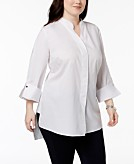 NY Collection Plus Size High-Low Tunic