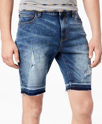 American Rag Men's Distressed Denim Shorts, Created for Macy's