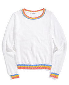 Nowadays x Bailee Madison Colorful Sweater with Stripes, Big Girls & Juniors