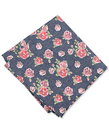 Bar III Men's Douglass Rose Floral Pocket Square, Created for Macy's