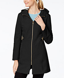 Via Spiga Petite Softshell Raincoat
