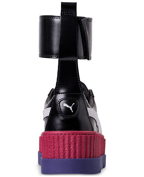 best website a0612 b1628 Puma Women's Fenty x Rihanna Ankle Strap Creeper Casual ...