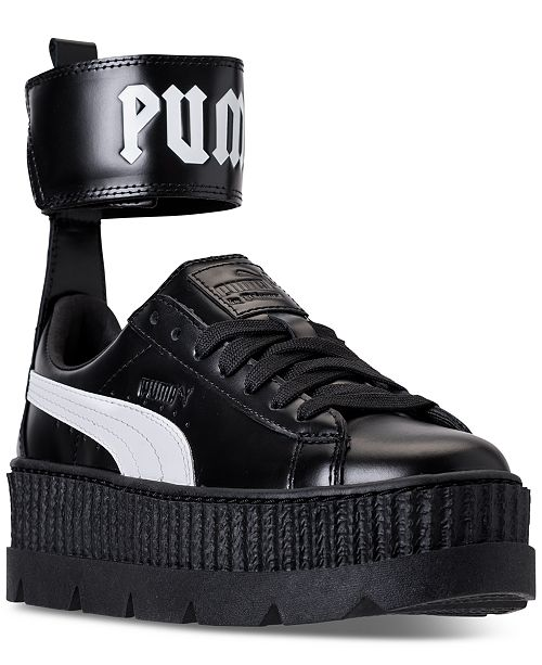 ... Puma Women s Fenty x Rihanna Ankle Strap Creeper Casual Sneakers from  Finish ... 8669f00ed