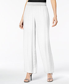 Thalia Sodi Wide-Leg Soft Gauze Pants, Created for Macy's