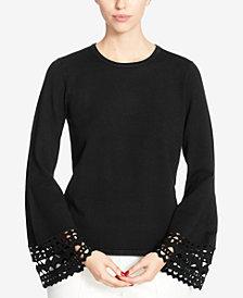 Catherine Catherine Malandrino Cutout Bell-Sleeve Sweater