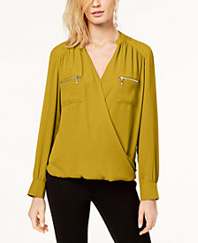 I.N.C. Petite Surplice Utility Blouse, Created for Macy's