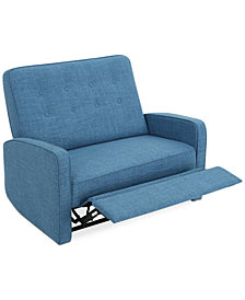 Wadena Tufted Recliner Loveseat, Quick Ship