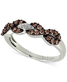 Le Vian Chocolatier® Diamond Infinity Ring (3/8 ct. t.w.) in 14k White Gold