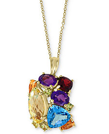 "EFFY® Multi-Gemstone 18"" Pendant Necklace (14 ct. t.w.) in 14k Gold"