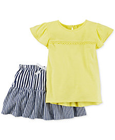 Carter's 2-Pc. Cotton T-Shirt & Skirt Set, Little Girls & Big Girls