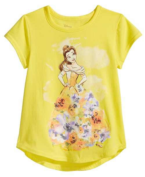 51dbc0ed9 Disney Beauty and The Beast Belle Cotton T-Shirt, Little Girls ...