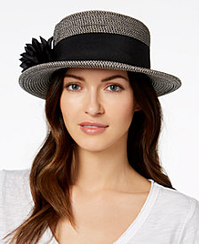 Nine West Packable Boater Sun Hat