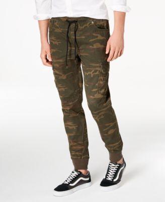 Men's Camo Cargo Jogger Pants, Created for Macy's