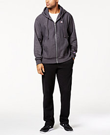 Champion Men's Powerblend Fleece Zip Hoodie, Logo T-Shirt & Powerblend Pants