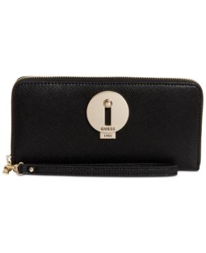 Image of Guess Augustina Boxed Zip Around Wallet, Created for Macy's