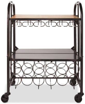 Gourmet Basics By Hadamar Folding Bar Cart