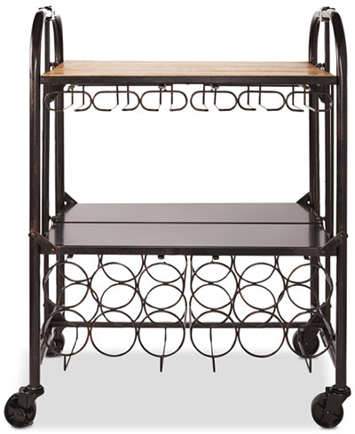 Gourmet Basics By Mikasa Hadamar Folding Bar Cart