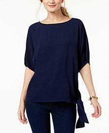 MICHAEL Michael Kors Petite Side Tie Top