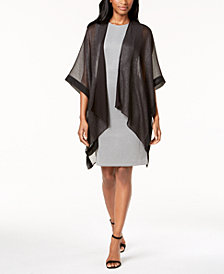 Steve Madden Solid Metallic Evening Cape