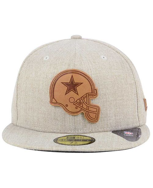 New Era Dallas Cowboys Heathered Helmet 59FIFTY Fitted Cap - Sports ... e90cea4f9