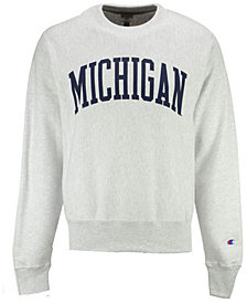 Champion Men's Michigan Wolverines Reverse Weave Crew Sweatshirt