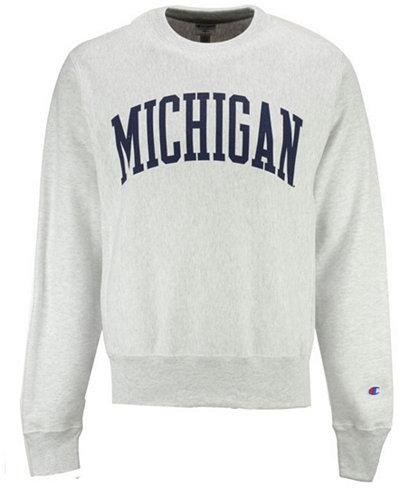 Champion Men's Michigan Wolverines Reverse Weave Crew Sweatshirt