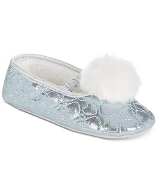 Stride Rite Pom-Pom Slippers, Baby Girls & Toddler Girls