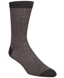 Men's Piqué Knit Textured Crew Socks