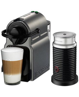f542b73ee24f Nespresso by Breville Inissia Titan Espresso Machine with Aeroccino3    Reviews - Coffee