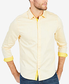 Nautica Men's Two-Tone Twill Shirt