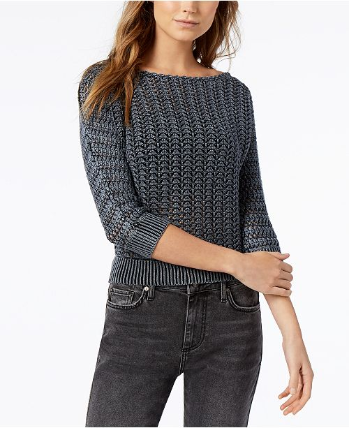 e0eea14d7aa80 Free People Boomerang Cotton Boat-Neck Sweater   Reviews - Sweaters ...