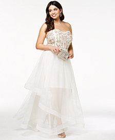 Say Yes To The Prom Trendy Plus Size Embellished Gown, Created for Macy's