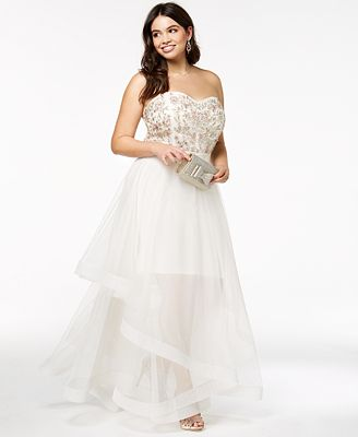 Say Yes To The Prom Trendy Plus Size Embellished Gown Created For