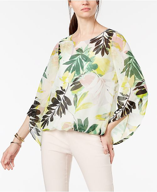 Petite Angel-Sleeve Bubble-Top, Created for Macy's