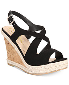 Callisto Brielle Espadrille Platform Wedge Sandals